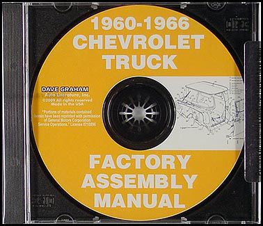 1960-1966 Chevrolet and GMC Pickup Truck Assembly Manual on CD-ROM