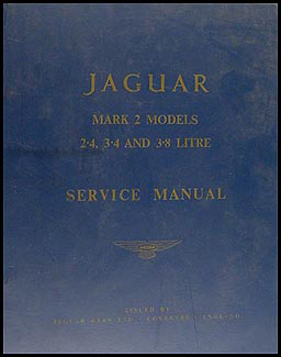 1960-1963 Jaguar Mark 2  Repair Manual Original 2.4 3.4 3.8