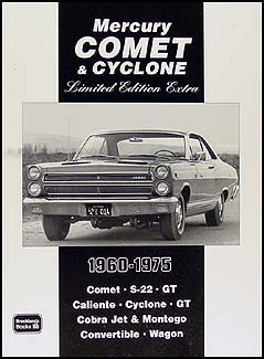 1960-1975 Mercury Comet & Cyclone Book with 39 Magazine Articles