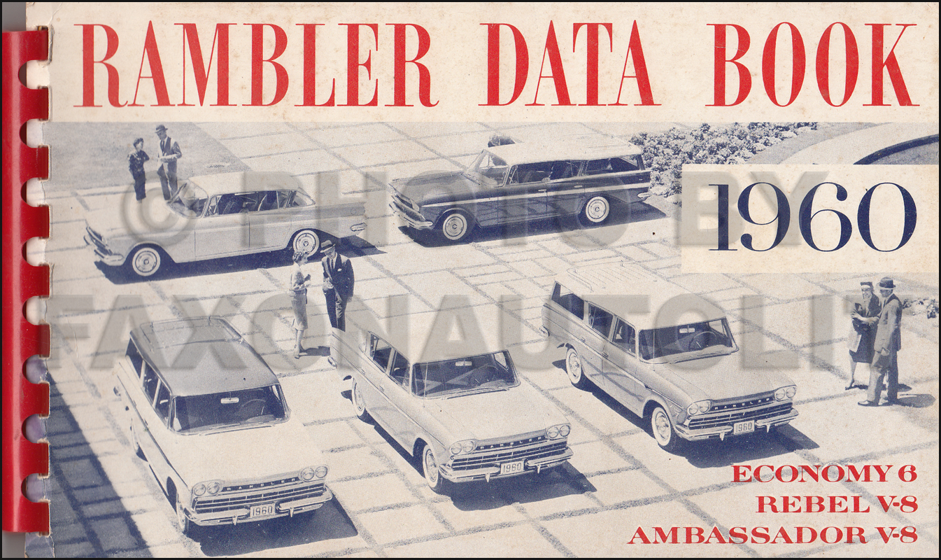 1960 AMC Data Book Original Rambler 6 Rebel V8 Ambassador