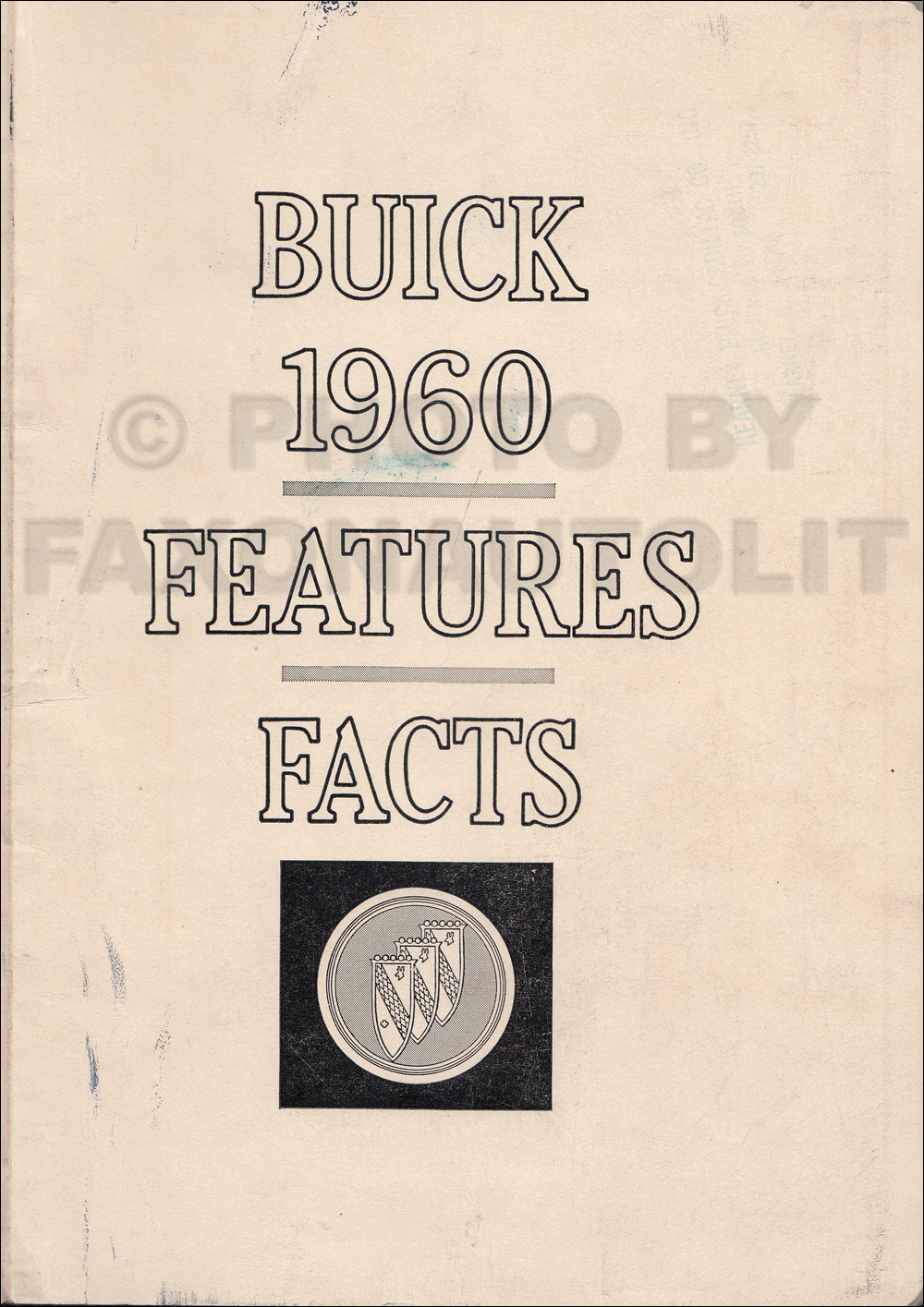 1960 Buick Features Facts Book Original