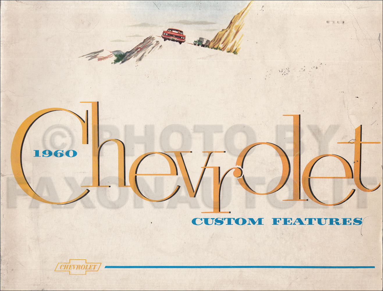1960 Chevrolet Custom Feature Accessories Dealer Album Original
