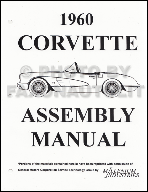 1960 Corvette Factory Assembly Manual Reprint