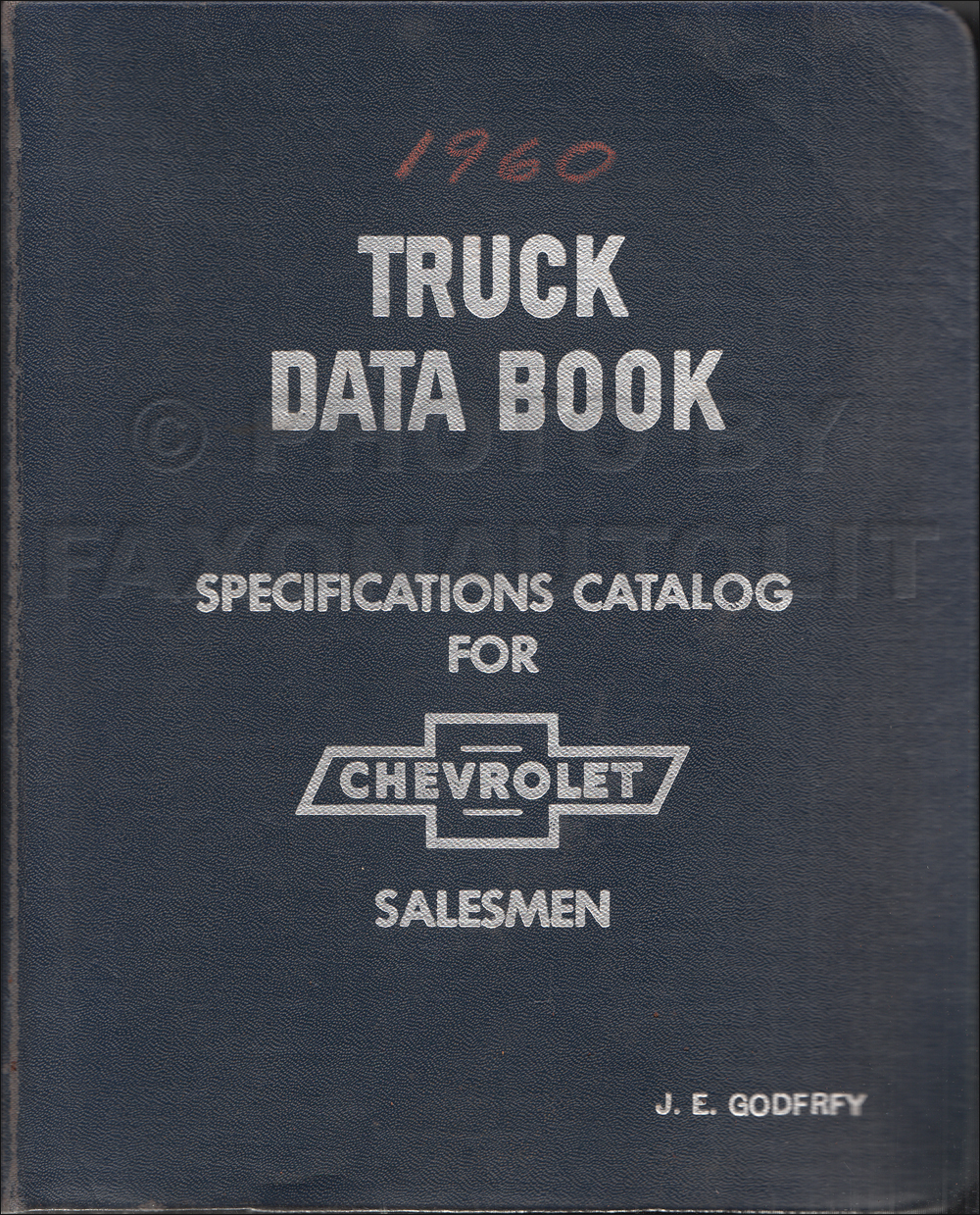 1960 Chevrolet Truck Data Book Original