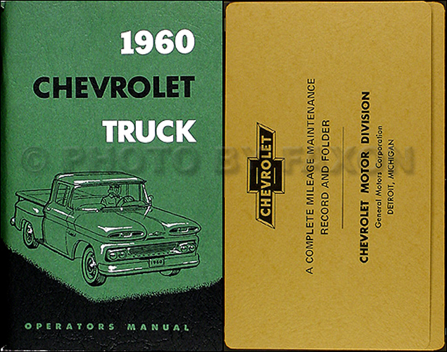 1960 Chevrolet Pickup & Truck Owner's Manual Reprint Package