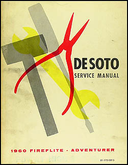 1960 De Soto Shop Manual Original