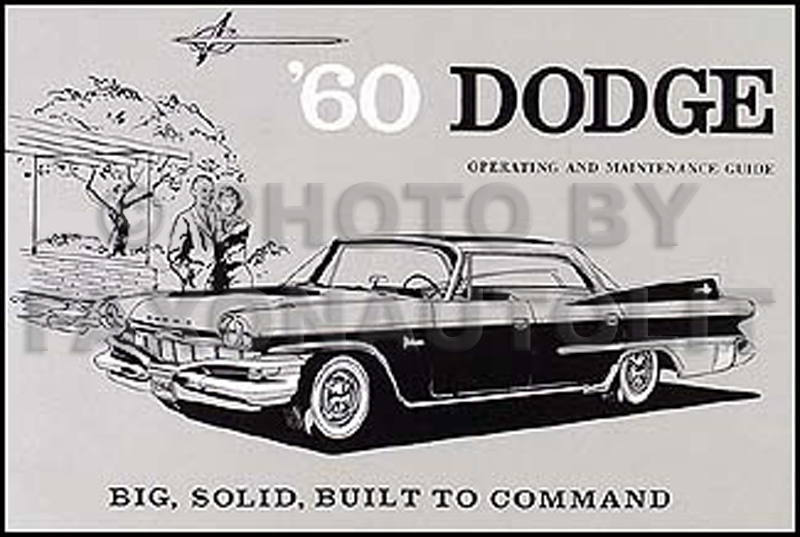 1960 Dodge Matador & Polara Reprint Owner's Manual