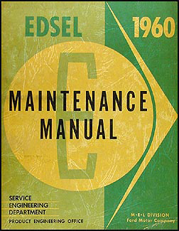 1960 Edsel Original Repair Manual