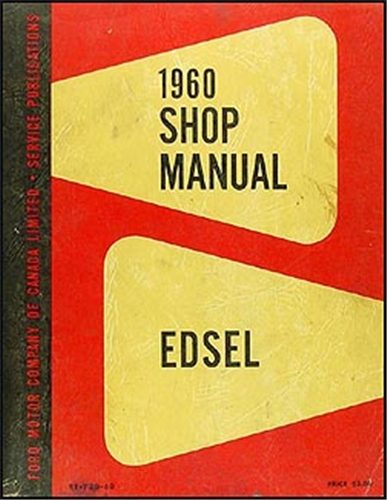 1960 Edsel Canadian Repair Manual Original