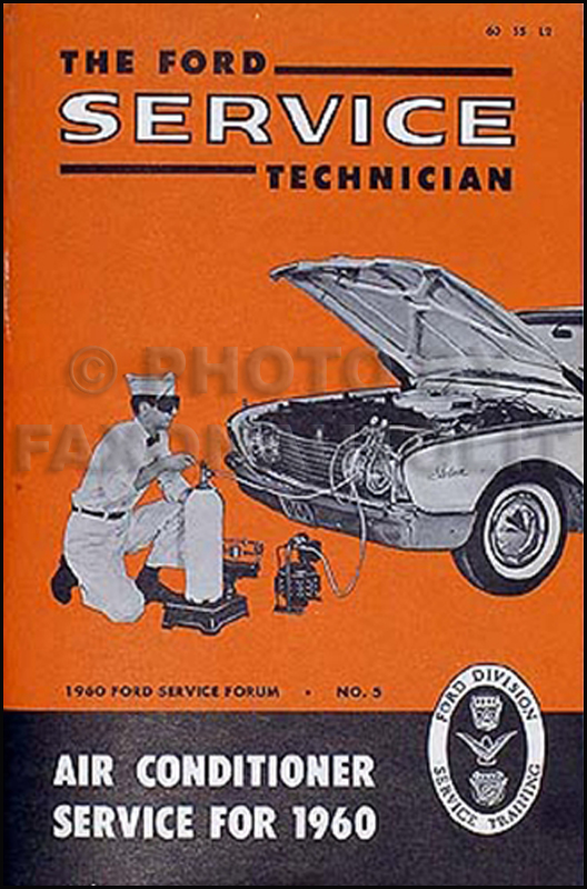 1960 Ford Air Conditioner Manual Service Training Manual Original