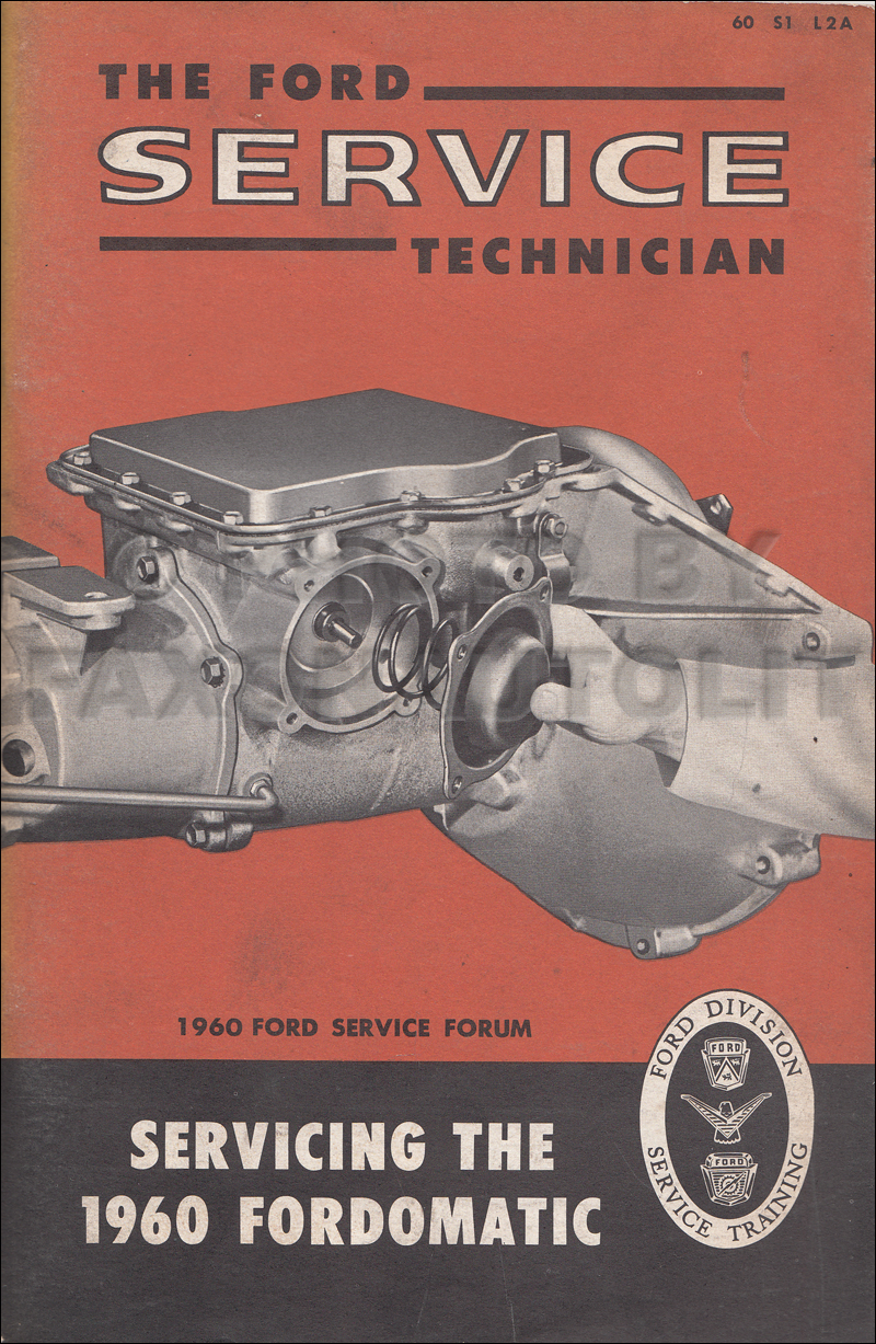 1960 Ford Automatic Transmission Servicing Manual 2-Speed Fordomatic