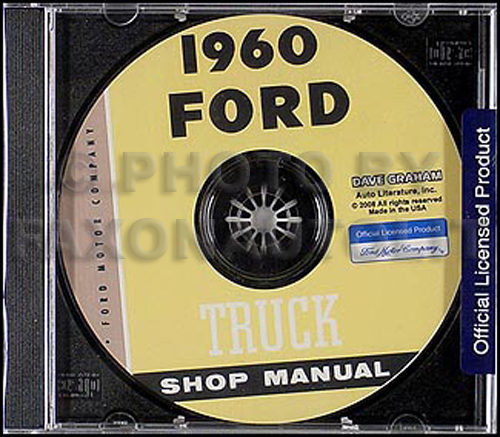 1960 Ford Pickup and Truck Shop Manual CD-ROM