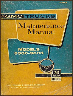 1960-1961 GMC 5500-9000 Repair Manual Original