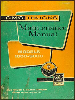 1960-1961 GMC 1000-5000 Repair Manual Original