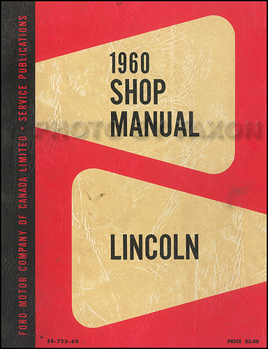 1960 Lincoln Shop Manual Original