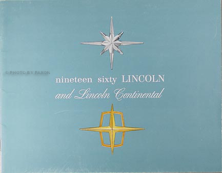 1960 Lincoln, Premier, & Continental Sales Catalog Original