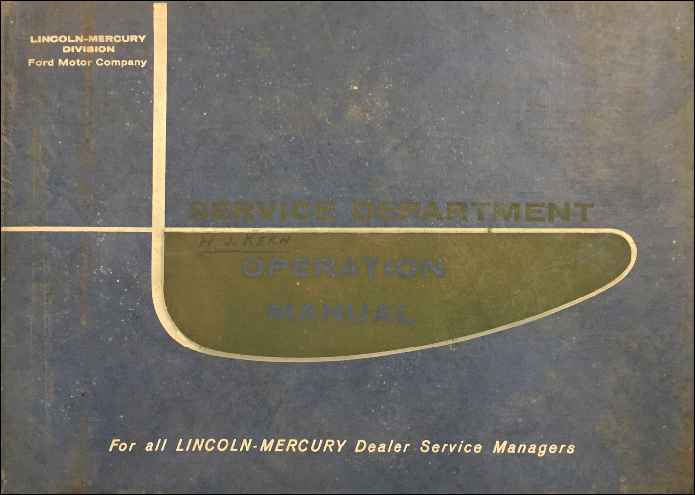 1960 Lincoln/Mercury Service Department Operation Manual Dealer Album Original