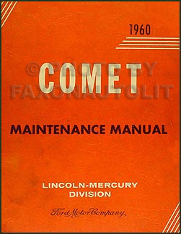 1960 Mercury Comet Repair Manual Original