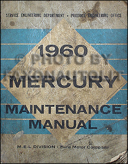 1960 Mercury Repair Shop Manual Original