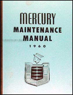 1960 Mercury Shop Manual Reprint