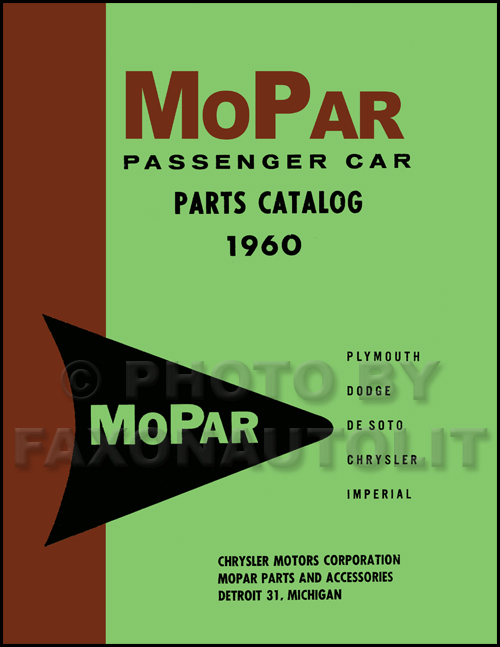 1960 MoPar Parts Book Reprint
