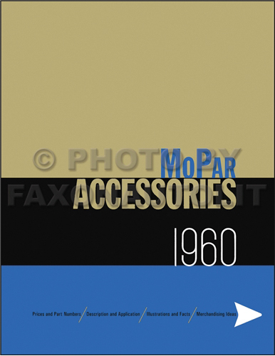 1960 MoPar Accessories Parts Book Reprint