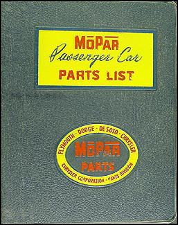 1960 MoPar Parts Book Original