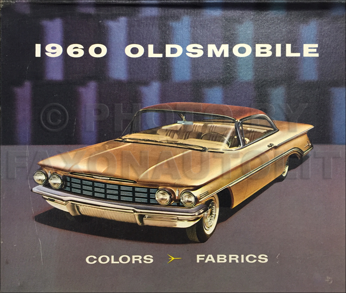 1960 Oldsmobile Color & Upholstery Dealer Album Original