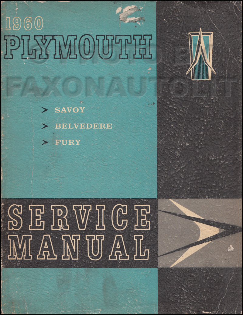 1960 Plymouth Shop Manual Original--All Models