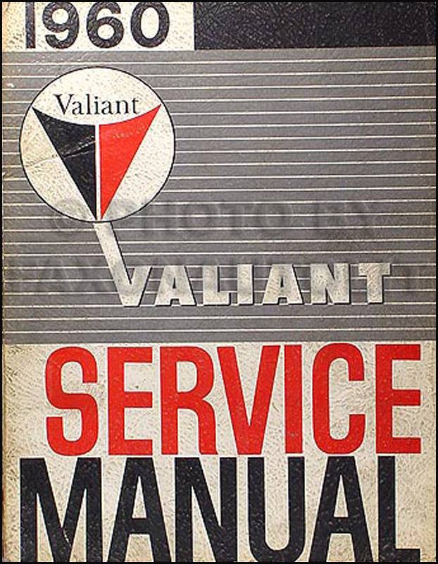 1960 Plymouth Valiant Shop Manual Original