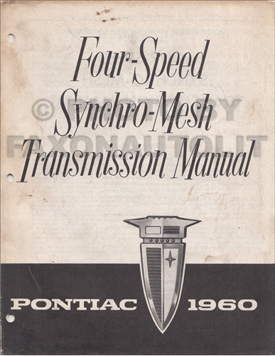 1960 Pontiac Hydra-Matic Transmission Repair Manual Original