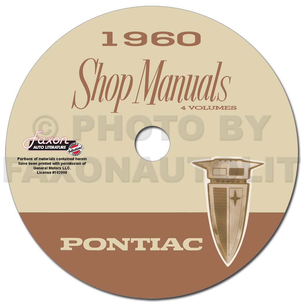 1960 Pontiac CD Repair Shop Manual with Body, Hydra-Matic, & A/C Manuals