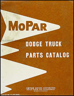 1961-1962 Dodge Pickup and Truck Parts Book Original
