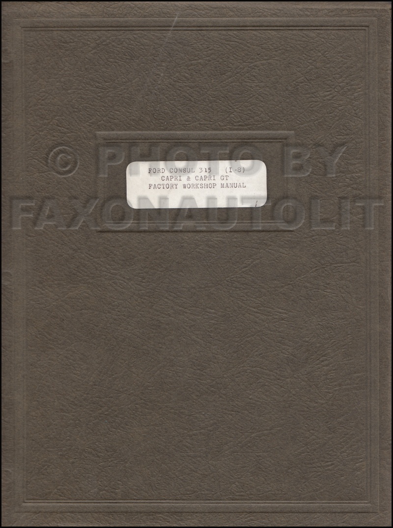 1961-1962 Ford Consul Repair Shop Manual Original