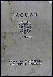1961-1962 Jaguar XKE Owner's Manual Original