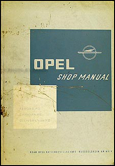 1961-1962 Opel Repair Manual Original
