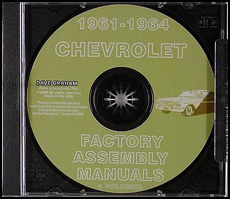 CD-ROM 1961-1964 Chevrolet Car Assembly Manual