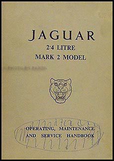 1961-1964 Jaguar 2.4 Litre Mark 2 Owner's Manual Original