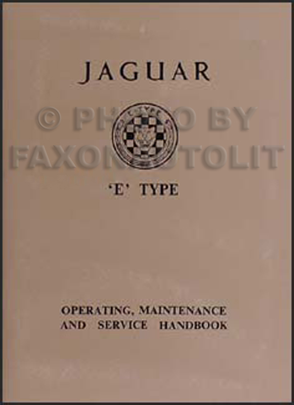 1961-1964 Jaguar XK-E 3.8 Owner's Manual Reprint