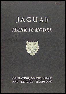 1961-1964 Jaguar Mark 10 Owner's Manual Original