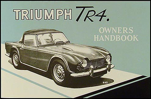 1961-1964 Triumph TR4 Owner's Manual Reprint