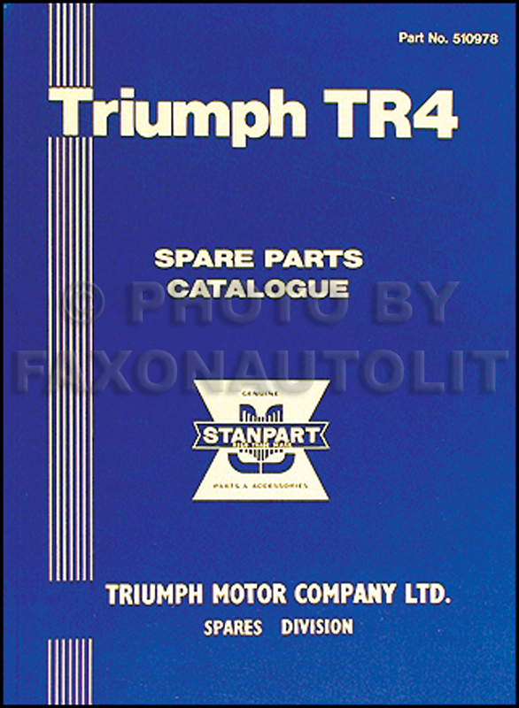 1961-1964 Triumph TR4 Parts Catalog Reprint