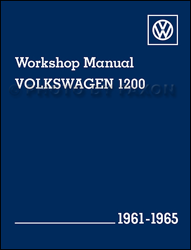 1961-1965 VW Beetle Karmann Ghia 1200 Repair Manual Reprint