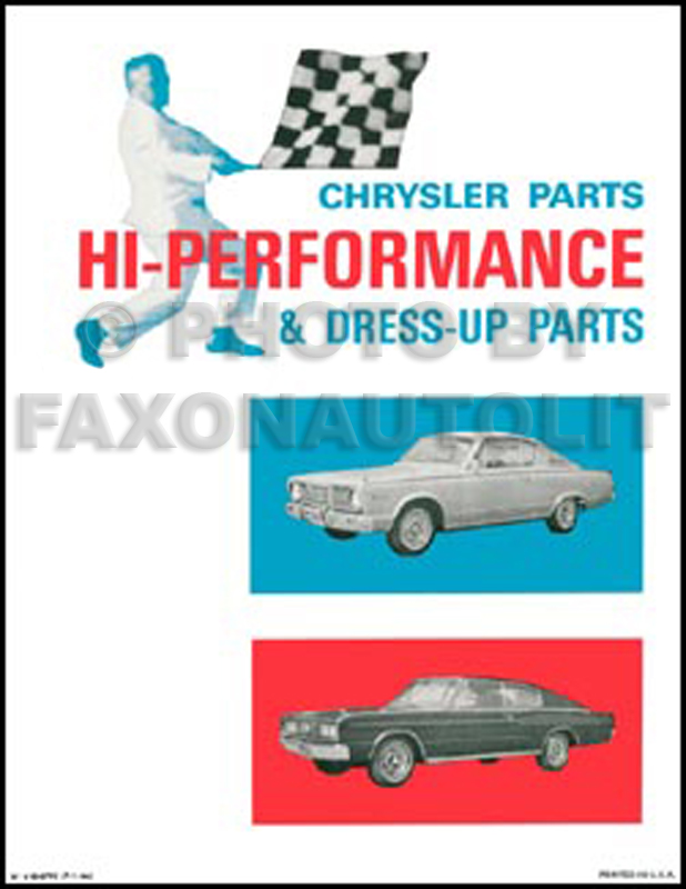1961-1966 MoPar Hi-Perfomance Parts Book Reprint