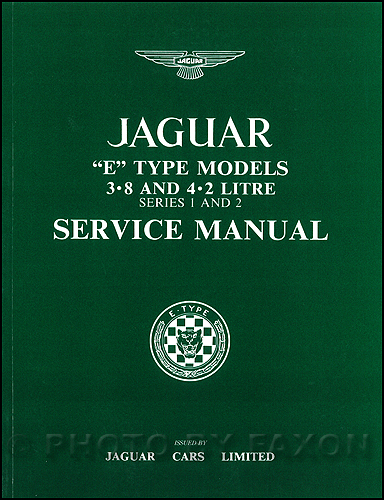 1961-1971 Jaguar XKE Repair Shop Manual Reprint XK-E
