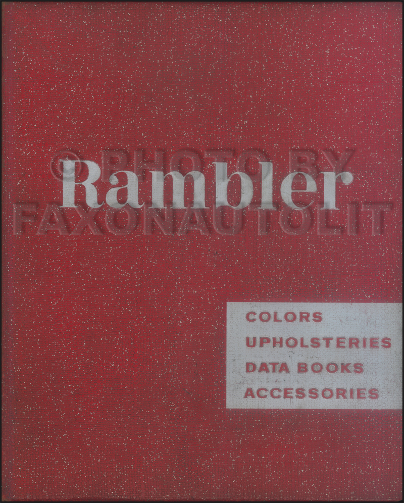 1961 AMC Rambler Color & Upholstery Dealer Album Original