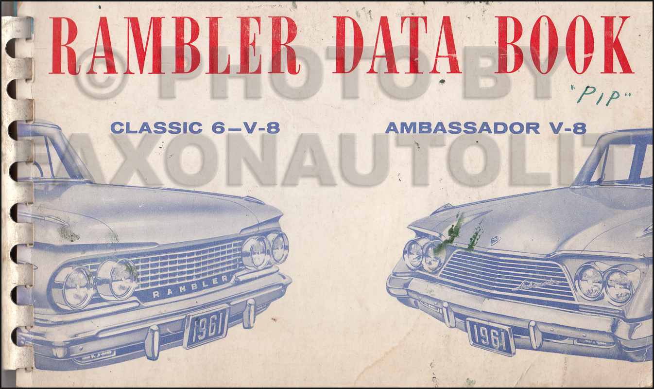 1961 AMC Data Book Original Rambler Classic Ambassador