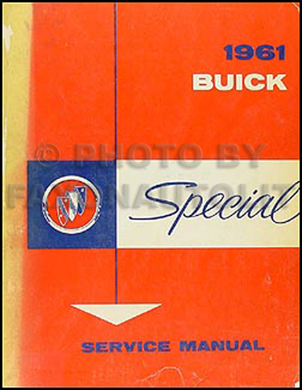 1961 Buick Special Shop Manual Original