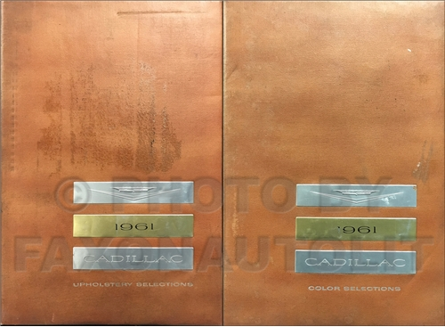 1961 Cadillac Color and Upholstery Albums Large 2 Book Set