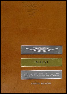 1961 Cadillac Data Book Original